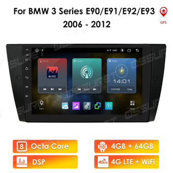 4G+64G Android 10 For BMW 3 Series E90 E91 E92 E93 Car Radio Multimedia Video Player Navigation GPS 2 din NON dvd image