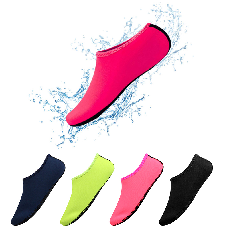 Summer Men Women Solid Water Shoes Swimming Shoes Color Summer Beach Shoes, Seaside Sneaker Socks Slippers