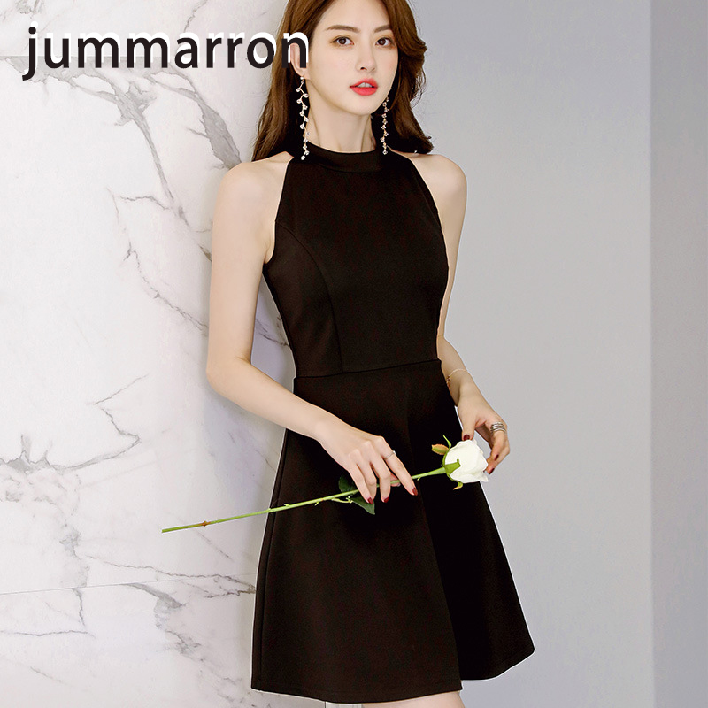 jummarron 2020 Spring/summer new Korean slim women's <font><b>dresses</b></font> sexy <font><b>dress</b></font> plus size women <font><b>dress</b></font> red/black <font><b>dress</b></font> ball dancing party image