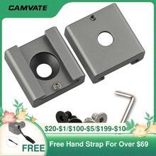 CAMVATE 2 Cái Lạnh/Gắn Kết Với Đế Adapter Với Ốc Vít 1/4 Cho Máy Ảnh DSLR Lồng Giàn Khoan/Flash/đèn LED/Micro/Màn Hình Gắn