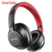 Oneodio SuperEQ S1 الهجين نشط إلغاء الضوضاء سماعات بلوتوث 5.0 فوق الأذن اللاسلكية سماعة رأس مزودة بميكروفون 45H اللعب