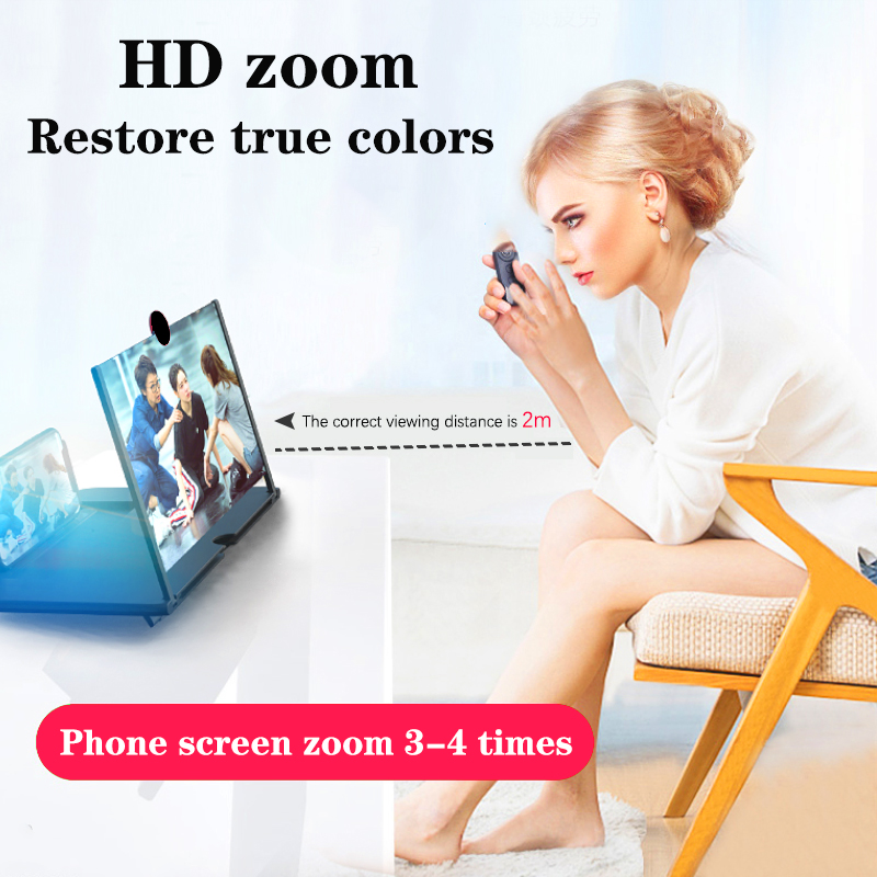 Orsda 14-inch 3d phone screen amplifier HD Eyes Protection Display Video  universal Screen Amplifier Support all smart phone 3