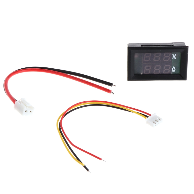 CC 0-100V 10A Dual LED voltímetro Digital amperímetro voltaje amperios potencia coche Monitor