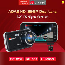 "Junsun Auto Dash Kamera Adas Full HD 1296P Drive Recorder Video Registrasi Mobil DVR dengan Belakang Kamera 4"" ips Layar(China)"