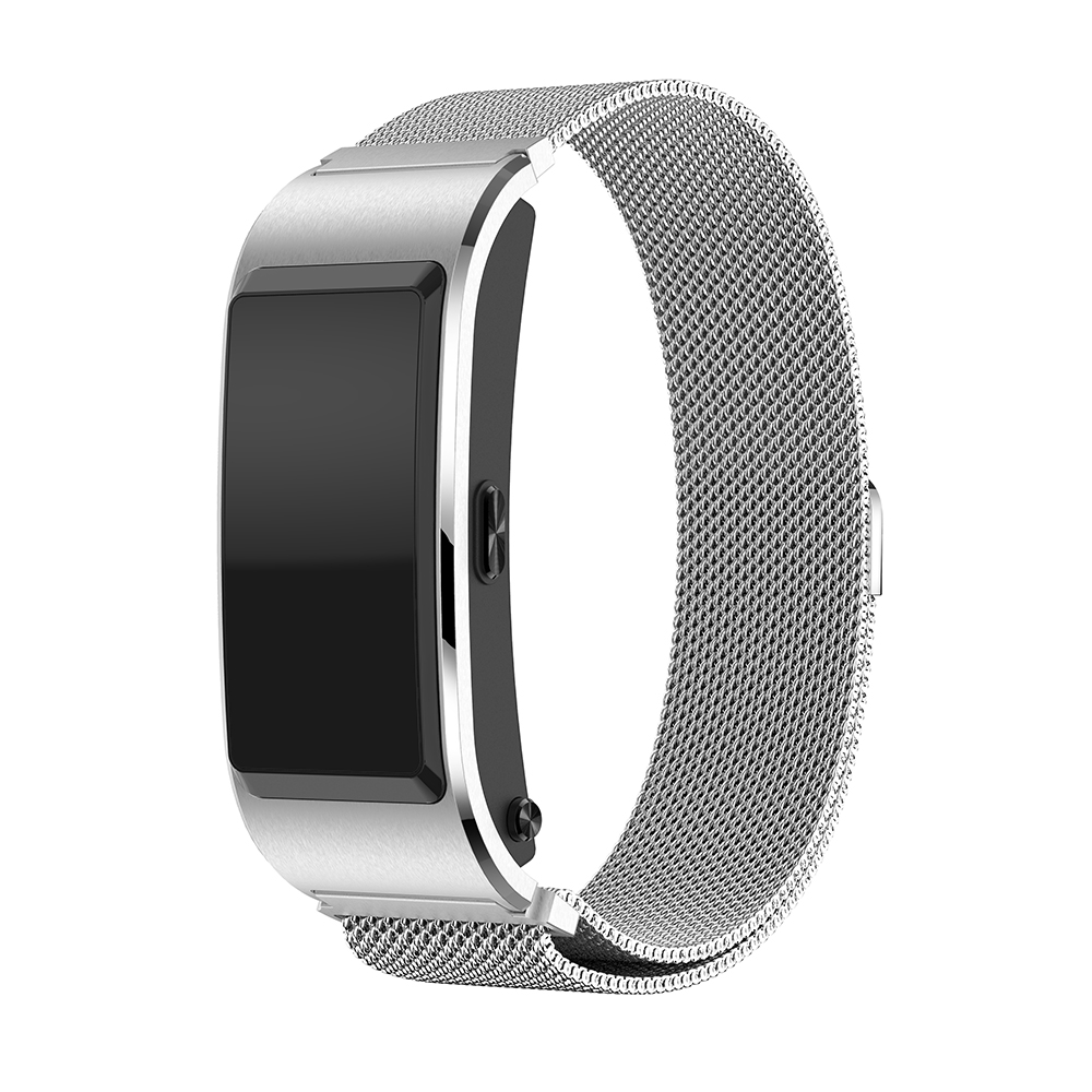 For Huawei B5 Milanese Talk Band Magnetic Stainless Steel Watchband Strap Metal Replacement Bracelet For Huawei B5 Smart Watch