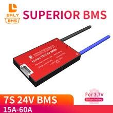 Imperméable à leau 7S 15A 20A 30A 40A 60A 24V batterie au Lithium panneau de Protection BMS Charge électrique Li Lipo NiCoMn cellules ioniques avec balance