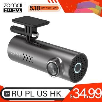 70mai coche DVR 1S APP y voz en Inglés Control 70mai 1S 1080P HD noche visión 70 MAI 1S Cámara de salpicadero era grabadora WiFi 70mai cámara de salpicadero