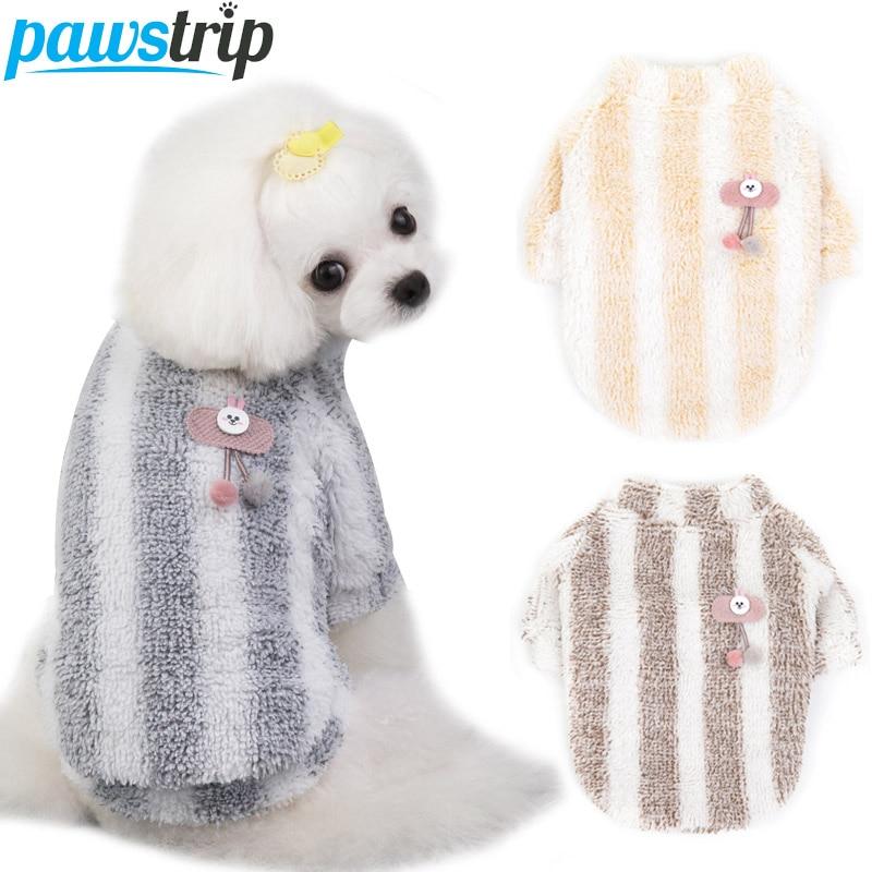 Soft Fleece Dog Coat Winter Dog Clothes Puppy Shirt Chihuahua Pug Shih Tzu Pet Winter Clothing Warm Cat Clothes ropa para perro