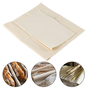 Linen Fermented Cloth Dough Pans Proving Bread Baguette Flax Cloth Baking Mat Baking Pastry Kitchen Tools