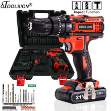21V Dual Speed Impact Cordless Screwdriver Small Drill Electric Tools Hammer Drill Screwdriver Hammer Cordless Drill+Handbag Bag cordless screwdriver deko 20 v org20du3 s1 electric cordless drill screwdriver drill impact drill