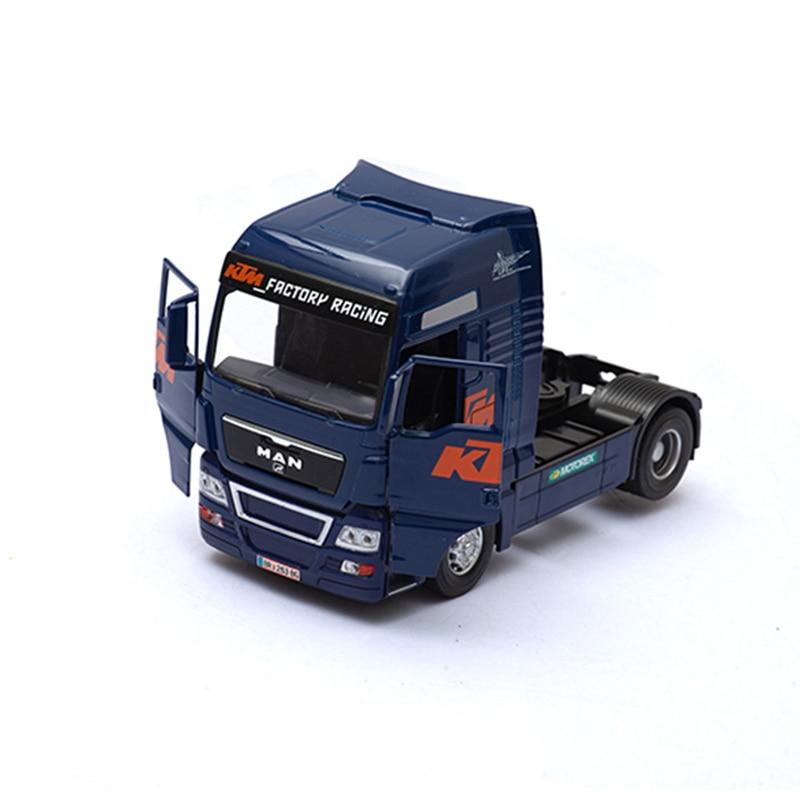 132 simulação caminhão reboque frente liga material móvel porta conectável recipiente hobby coleção modelo de carro brinquedo das crianças