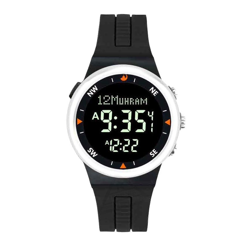 Mulim Wristwatch with Auto Qibla Fajr Time Azan Alarm for All Prayers