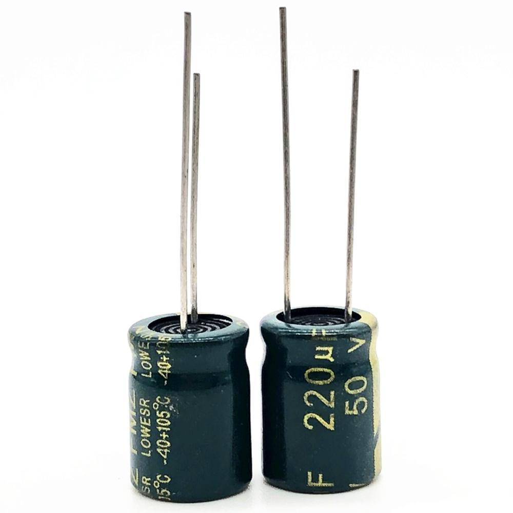 50V 220UF 8*12mm High Frequency Low Impedance Aluminum Electrolytic Capacitor 220uf 50v 20%