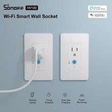 Itead Sonoff IW100/IW10 US Wi Fi Смарт контроль мощности розетка и переключатель энергосберегающая защита от перегрузки через приложение eWeLink