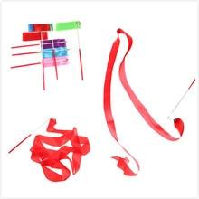 Stick Ribbons Twirling-Rod Rhythmic Ballet-Streamer Training 2M Art for Gym Professional