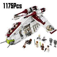 05041 Wars On Star Toy Republic Gunship Set StarWars Compatible With LepininglyShip For Children Educational Blocks Gift Boy