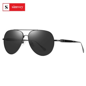 2020 Classic Retro Oversized Polarized Sunglasses for Men Women Driving Aviator Alloy Frame Sun Glasses UV400 Protection 1