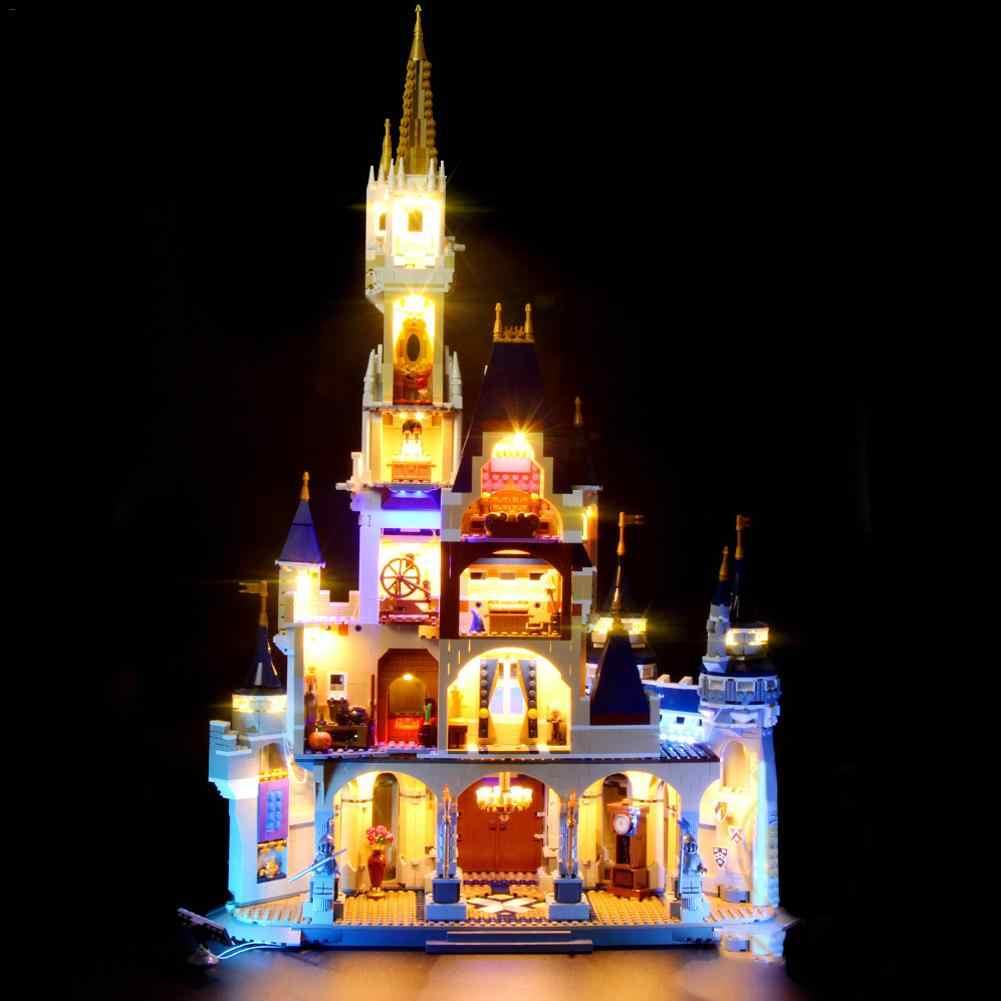 Building Block zamek oświetlenie LED komponentów zestaw oświetleniowy do LEGOING 71040