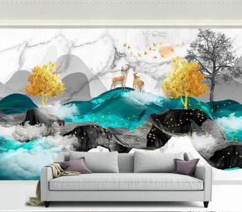 custom Photo Wallpaper Ink landscape 3D Mural Wallpaper Living Room Kid's Bedroom Backdrop Wall Painting Wall papers Home Decor custom photo wallpaper 3d stereo dinosaur theme large murals primitive forest living room bedroom backdrop decor mural wallpaper