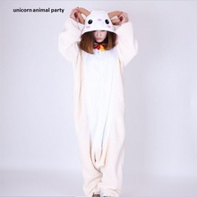 Kigurumi Animal Unisex Adult Goat Onesies Pajama Cartoon Sete Pyjama Jumpsuit Cosplay Costumes Halloween Clothes household