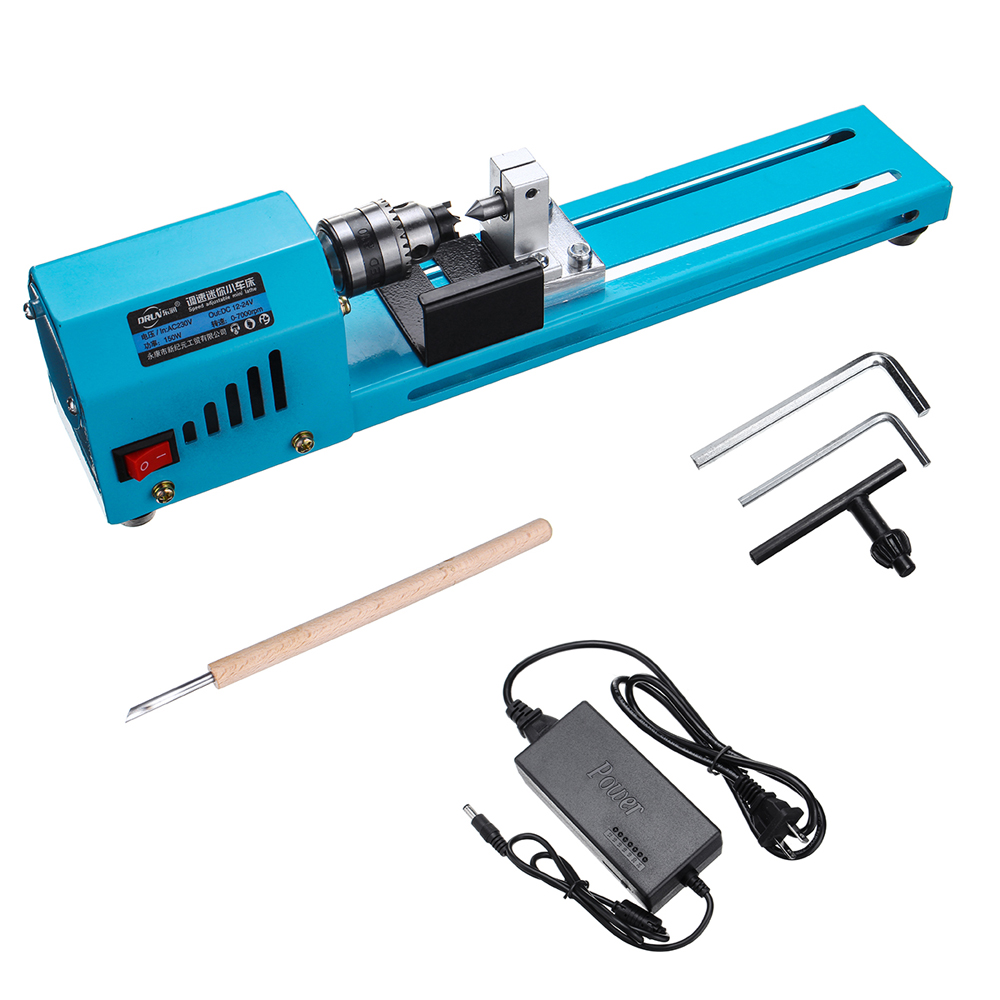 150W Mini Beads CNC Grinding Metal Lathe Machine Miniature Beads Polishing Lathe Woodworking DIY Drill Rotary Tool|Lathe| |  - title=