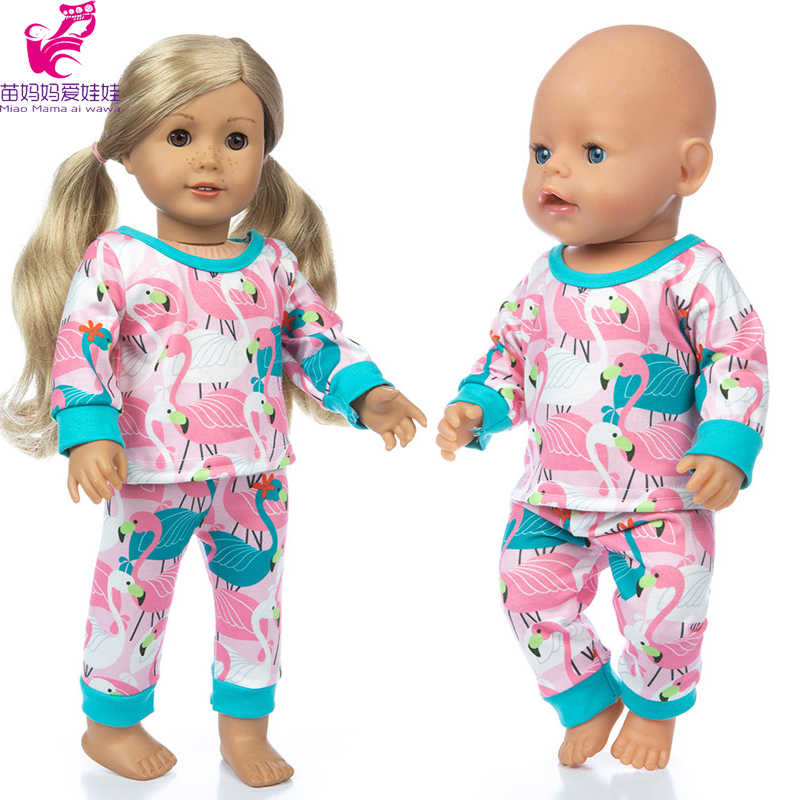 "Elephants//Mama /& Baby Pajamas for 18/"" Doll Clothes American Girl"