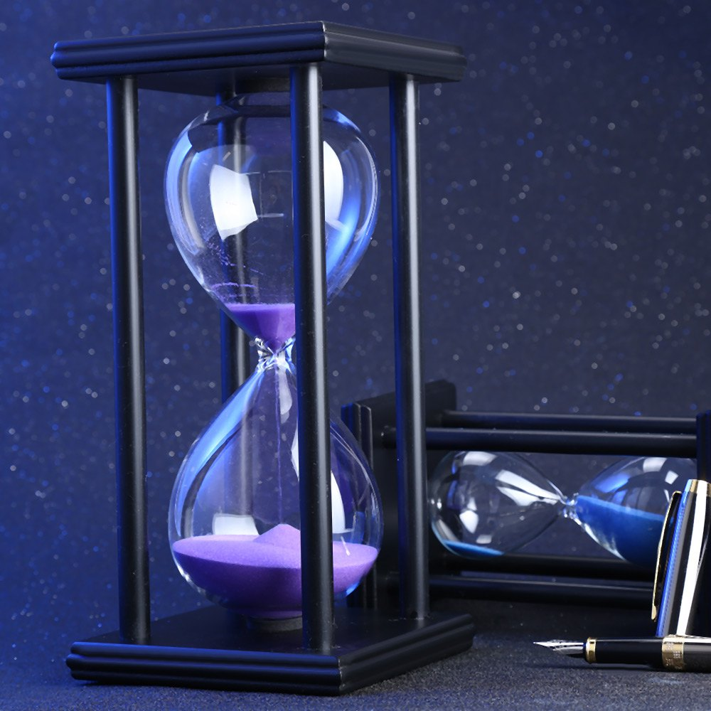 30/60 Minutes Hourglass Sand Timer Kitchen School Modern Wooden Hour Glass Sandglass Sand Clock Tea Timers Home Decoration Gift
