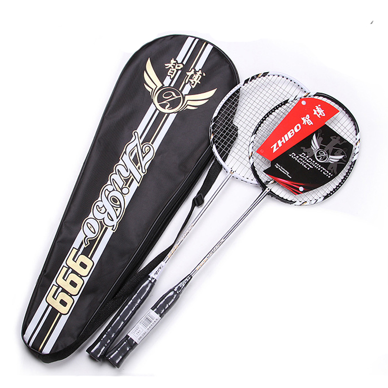 Carbon Badminton Racket Pair Grip Raquetas Family Outdoor Sports Training Light Weight Rackets Padel 24lbs With Badminton Bags