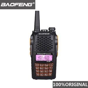Image 1 - Baofeng UV 6R ווקי טוקי 7W מקצועי CB רדיו להקה כפולה 128CH LCD תצוגה אלחוטי Pofung UV6R נייד חם שתי דרך רדיו