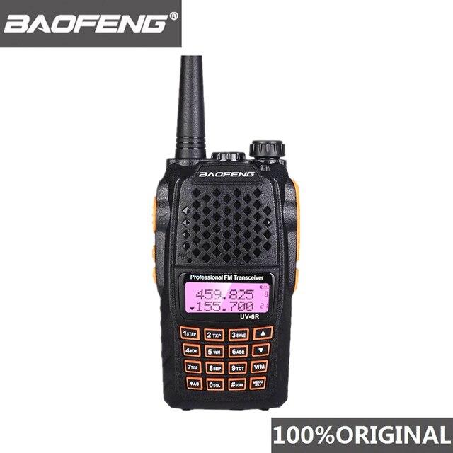 Baofeng UV 6R ווקי טוקי 7W מקצועי CB רדיו להקה כפולה 128CH LCD תצוגה אלחוטי Pofung UV6R נייד חם שתי דרך רדיו