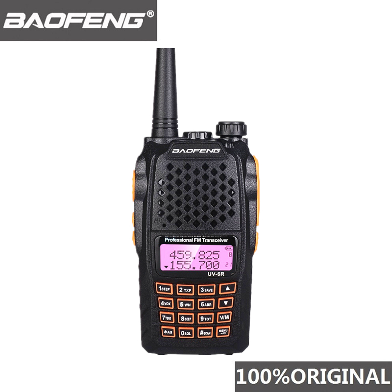 Baofeng UV-6R Walkie Talkie 7W Professional CB Radio Dual Band 128CH LCD Display Wireless Pofung UV6R Portable Ham Two Way Radio