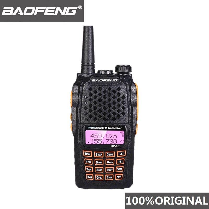Baofeng UV-6R Walkie Talkie 7W Professional CB Radio Dual Band 128CH LCD Display Wireless Pofung UV6R Portable Ham Two Way Radio
