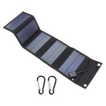 20 Вт USB порт солнечная панель s портативный складной водонепроницаемый Солнечная Панель зарядное устройство power Bank для телефона зарядное устройство