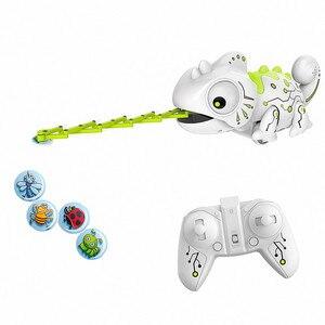 Image 1 - Lézard télécommandé caméléon, Robot Intelligent pour enfants, jouet cadeau danniversaire pour enfants, jeu amusant, télécommande, animaux reptiles, 2.4G