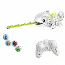 RC bukalemun kertenkele Pet 2.4G akıllı oyuncak Robot çocuklar için çocuklar için doğum günü hediyesi komik oyuncaklar uzaktan kumanda sürüngen hayvanlar