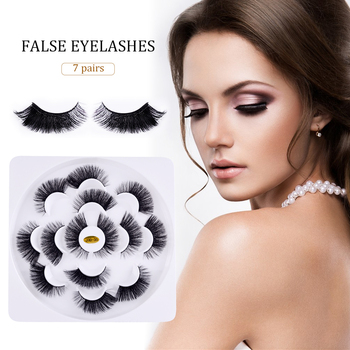 7 Pairs 3D False Eyelashes Fluffy Wispy Long Thick Lashes Mink Hair Handmade Soft Natural Eye Makeup Extension Tools eyelashes
