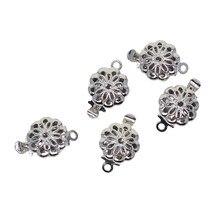 5x flor redonda pitada push fechos interruptor de jóias contas diy pulseira descobertas