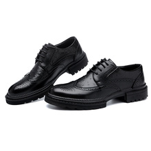 Men Dress Shoes Handmade Brogue Style Paty Leather Wedding Shoes