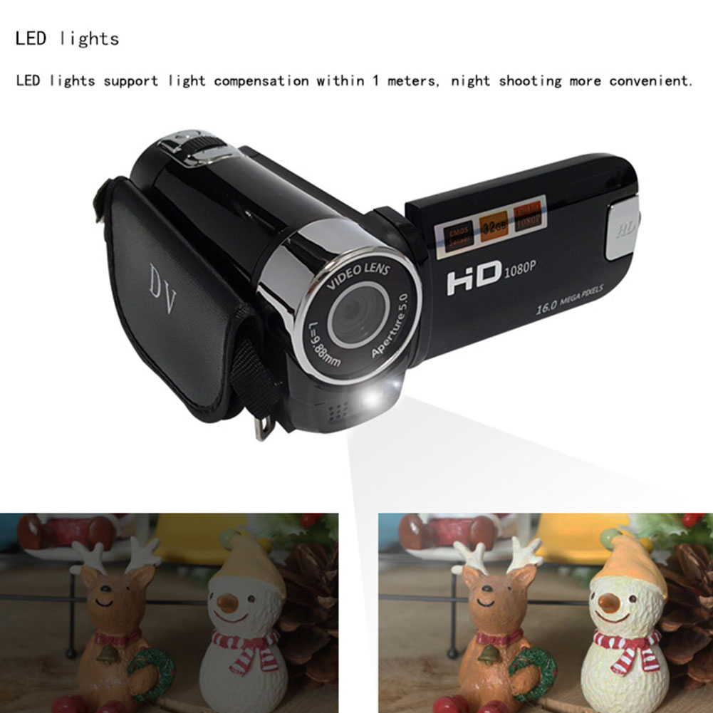 1080P Gifts Digital Camera High Definition LED Light Timed Selfie Anti-shake Night Vision Clear Portable Professional Shooting