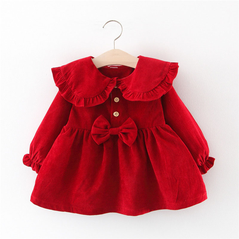 Cute Baby Dresses Floral Baby Girls Clothes Princess Girls Dress Suit Ball of Yarn Kids Clothes
