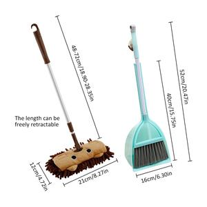 Kids housework Children Mop Broom Dustpan Set Baby Mini Sweeping House Cleaning Toys Set extensible Tablet Drag Pretend Play Toy