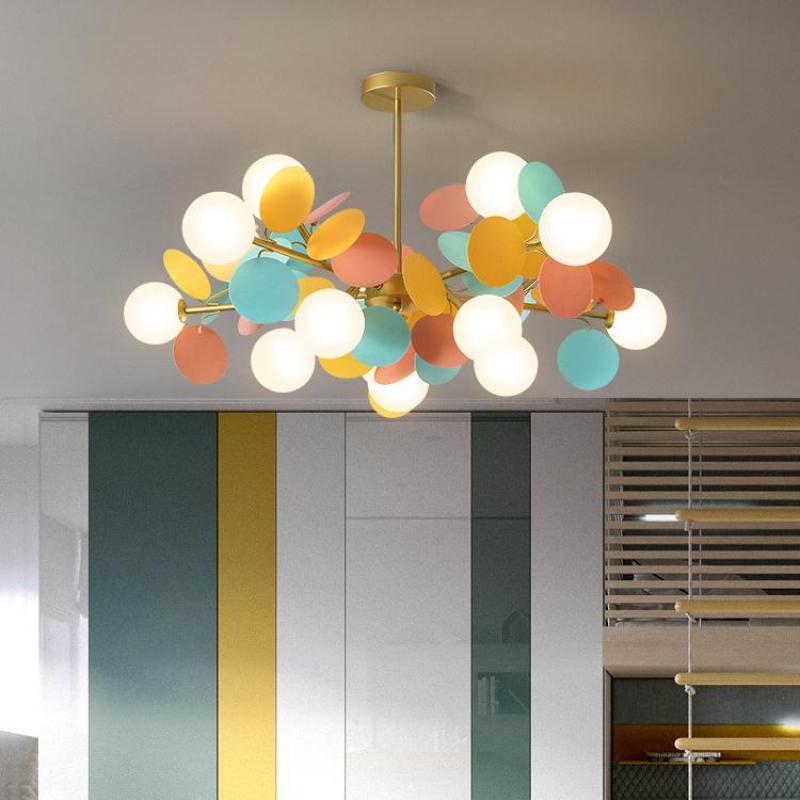 Moderne LED lustre enfants chambre unique design italien lampe chambre restaurant lumières décoratives LED plafond éclairage à la maison