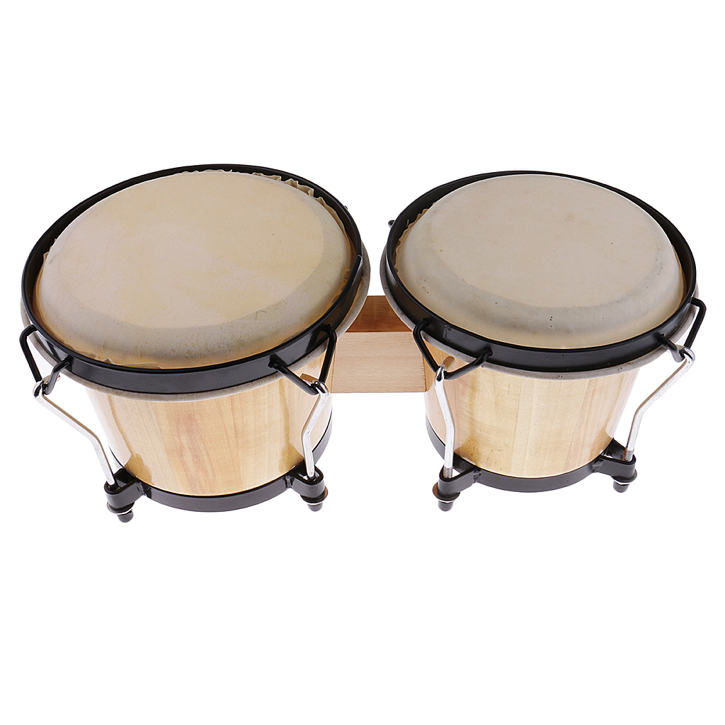 Durable Wood Bongo Drum African Traditional Drum Band Party Accessory Drum Percussion Instrument