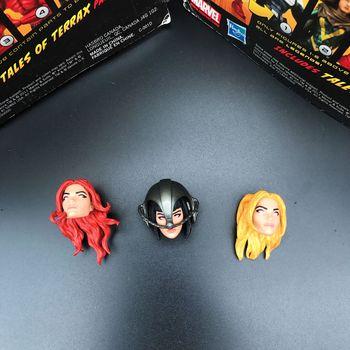 "Marvel Legends x-men Stepford Cuckoos 3 cabezas para 6 ""figura de acción suelta"
