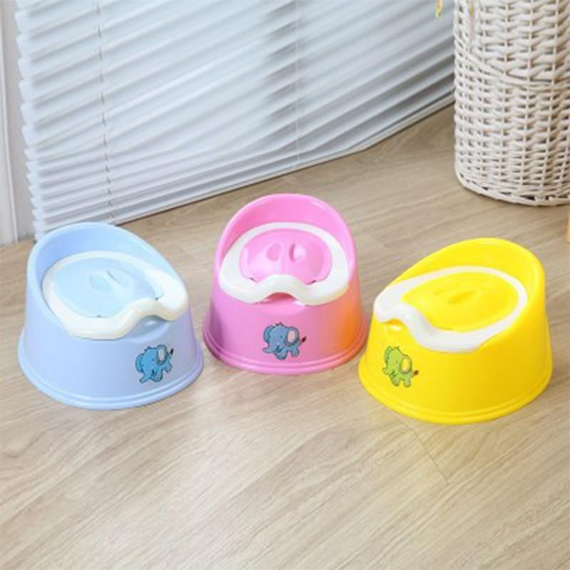 Baby Plastic Potty Cute Cartoon Kid Potty Training Children Road Pot 3 Color Newborn Convenient Portable Backrest Urinal Potties