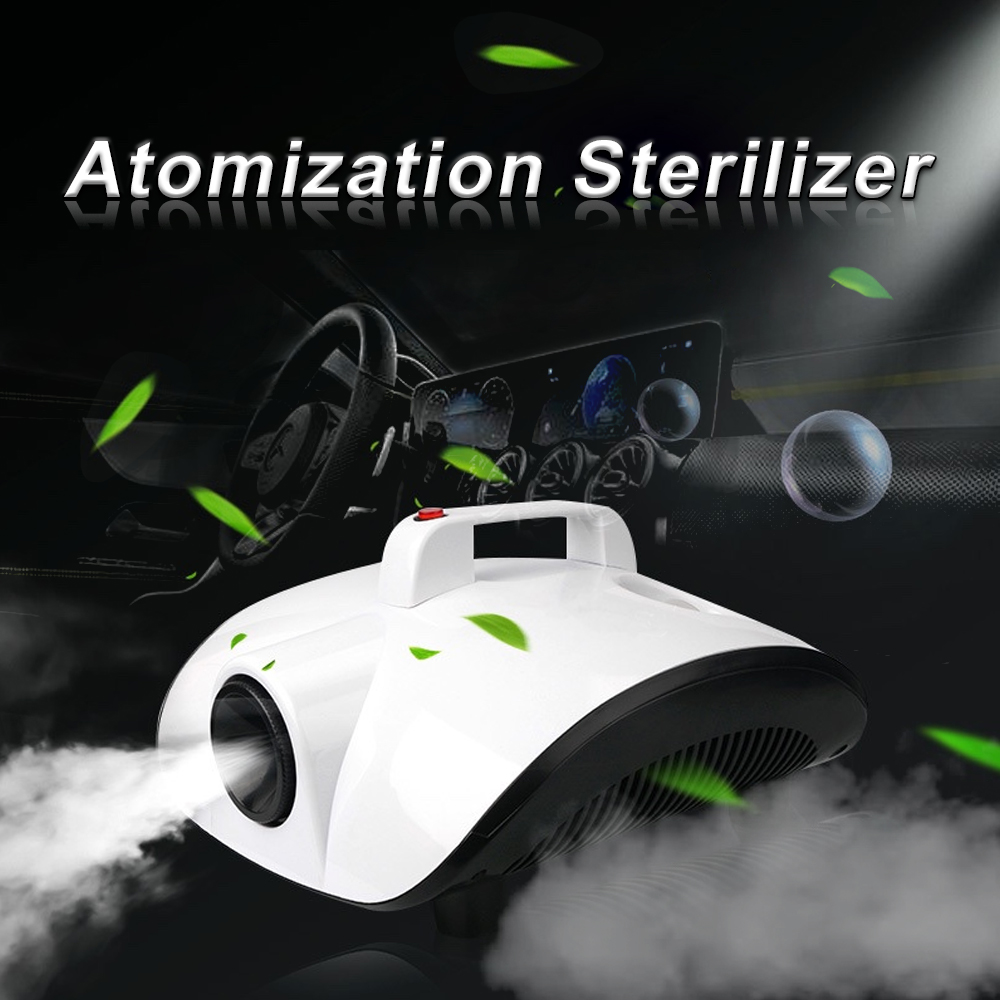 New 1500W Portable Atomization Sterilizer Kill Virus Remove Peculiar Smell Mini Smoke Fog Machine For Car Lving Room Home Office