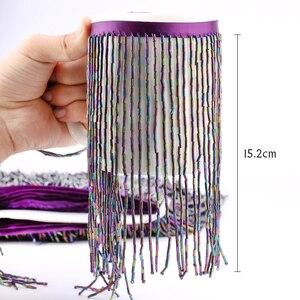 Image 2 - 15cm 5.5 מטרים עגול צינור חרוזים צבע חרוזים טאסל פרינג עם באיכות גבוהה לחתונה קישוט שמלת או DIY וילון לקשט