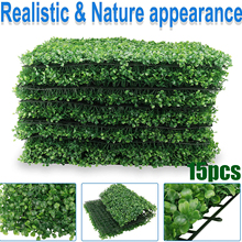 Artificial Greenery Boxwood, Privacy Fence Screen Faux Plant, UV Resistant Topiary Hedge,for Outdoor Indoor Use as Wall Backdrop