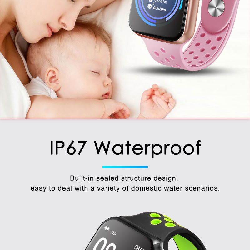 F9 s PK iwo8 b57 Touch Screen smart watches to Monitor Heart rate and Blood pressure Supported for IOS Android for men women 17