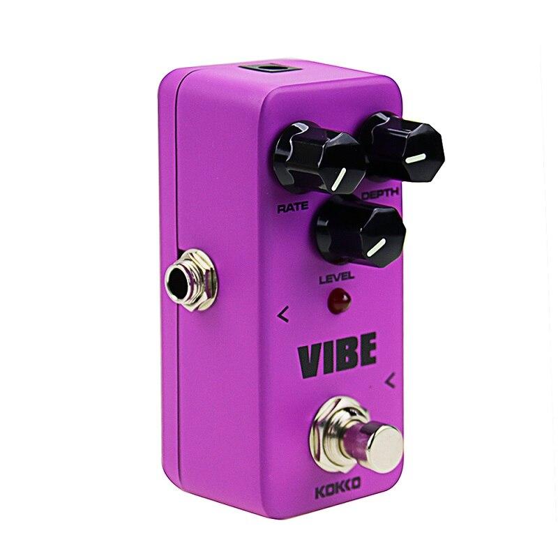 Nouveau FUV2 Mini électrique effet guitare pédale Vibe Ture dérivation analogique rotatif haut-parleur effet son processeur Guitarra accessoires